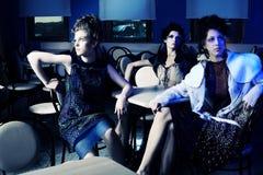 Extravagant ladies Royalty Free Stock Photography