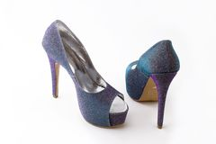 Extravagant ladies shoes Royalty Free Stock Photography