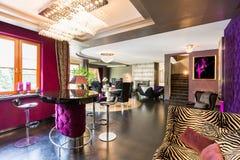 Extravagant lounge with bar stools Stock Image