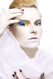 Extravagant make-up color Stock Photos
