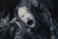 Creative visage, Dark Side. royalty free stock images