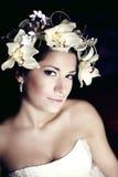 Extravagante Braut mit moderner Verfassung Stockfotos