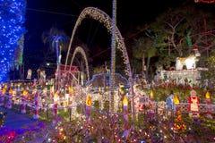 Extravagante Weihnachtslichter lizenzfreies stockfoto