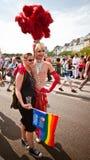 Extravagantes Kostüm homosexueller Stolz Paris 2010 Stockbild