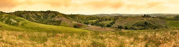 Extrawide tuscany landscape panorama Royalty Free Stock Images