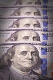 Extreem close-up van rekening honderd Stock Afbeelding