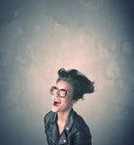Extreem jong de vrouwenportret van de haarstijl Stock Foto's