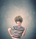 Extreem jong de vrouwenportret van de haarstijl royalty-vrije stock foto