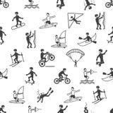 Extreem sporten naadloos patroon Stock Fotografie