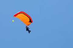 Extreem sports. parachuting Royalty Free Stock Images