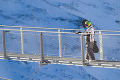 Extreeme sport on the European Alps Royalty Free Stock Photography