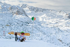 Extreeme sport on the European Alps Royalty Free Stock Photo