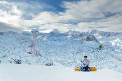 Extreeme sport on the European Alps Royalty Free Stock Photos