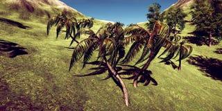 Extrem ausführliche und realistc hoher Auflösung 3D Illustration Luxusferien in einer tropcial Insel stockbilder