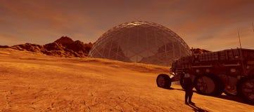 Extrem ausführliche und realistische Illustration der hohen Auflösung 3d einer Kolonie beschädigt an wie Planet Elemente dieses B vektor abbildung