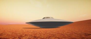 Extrem ausführliche und realistische Illustration der hohen Auflösung 3d Martian Landscapes lizenzfreie stockbilder