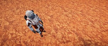 Extrem ausführliche und realistische Illustration der hohen Auflösung 3d Martian Landscapes stockfoto