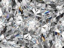 Extrem closeup- och kalejdoskopeffekt för diamant Arkivfoto