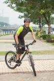 Extrem cyklist Fotografering för Bildbyråer