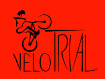 Extrem cyklist Arkivfoton