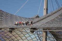 Extrem dragning i den olympiska stadionen. Royaltyfria Foton