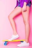 Extrem dziewczyna z deskorolka Obraz Stock