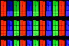 Extrem förstoring - RGB, IPS-skärm på 20x royaltyfri bild