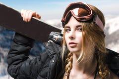 Extrem flickastående Arkivfoto
