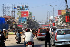 extrem hyderabad india trafik Royaltyfri Bild