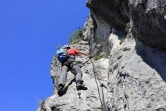 Extrem klättrare Arkivbild