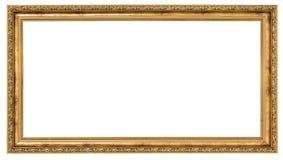 Extrem lang goldener Rahmen stockfotografie