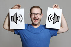 Extrem loud Stock Photography
