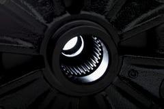 Extrem nah oben vom Autostoßdämpferflaschenzug lizenzfreie stockfotografie