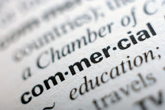 Extrem nah oben von der englischen Wörterbuchseite mit Wort Co Stockfotos
