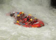 extrem rafting whitewater Royaltyfri Fotografi
