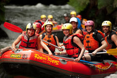 extrem rafting whitewater Royaltyfria Foton