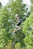 Extrem ropejumping Royaltyfria Foton