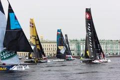 Extrem segla serie i St Petersburg Fotografering för Bildbyråer