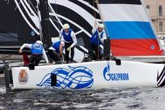 Extrem segla serie i St Petersburg Royaltyfria Bilder
