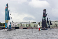 Extrem segla serie i St Petersburg Arkivfoto