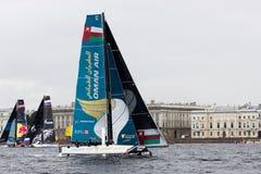 Extrem segla serie i St Petersburg Royaltyfri Fotografi