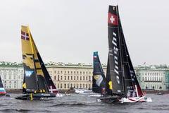 Extrem segla serie i St Petersburg Arkivbild