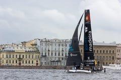 Extrem segla serie i St Petersburg Arkivbilder