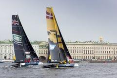 Extrem segla serie i St Petersburg Royaltyfri Foto