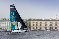 Extrem segla serie i St Petersburg Royaltyfria Foton