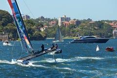 Extrem segla serie i Sydney Arkivbilder