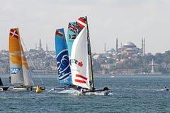 Extrem segling Istanbul 2015 royaltyfri foto