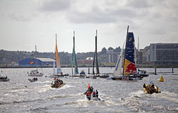 Extrem seglingserieCardiff fjärd 2012 Arkivfoton