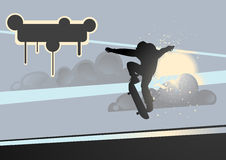 extrem skateboardvektor Arkivfoto