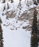 extrem skier royaltyfria bilder